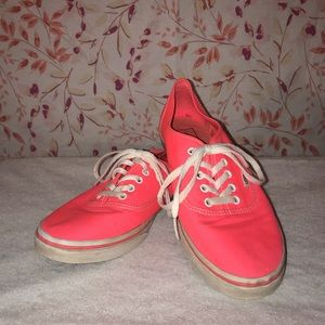 Vans lace up pink shoes M9/W10.5